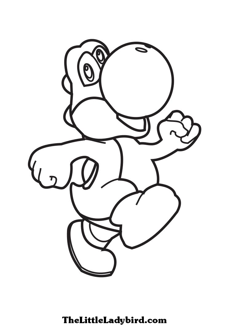 pictures of yoshi Colouring Pages