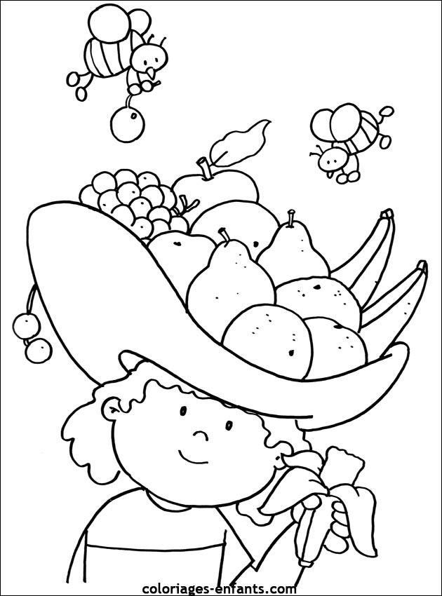 Coloriages De Fruits Et Légumes Pour Enfants Az Coloriage