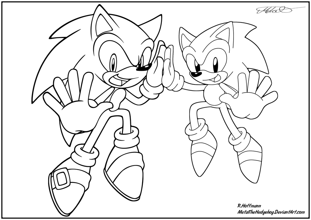 sonic generations super Coloriage