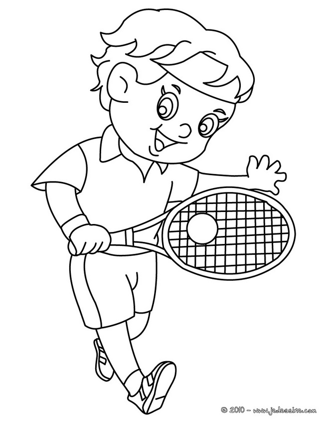 coloriage tennis coloriage dun enfant tennisman