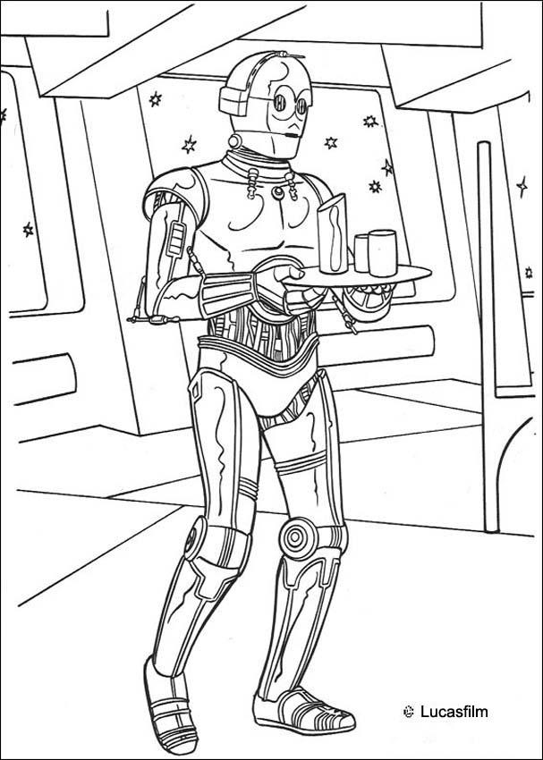 Coloriage STAR WARS - Coloriage STAR WARS de C-3PO