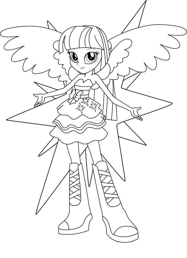 Coloriage Equestria Girl Rainbow Rocks Coloriage - AZ Coloriage
