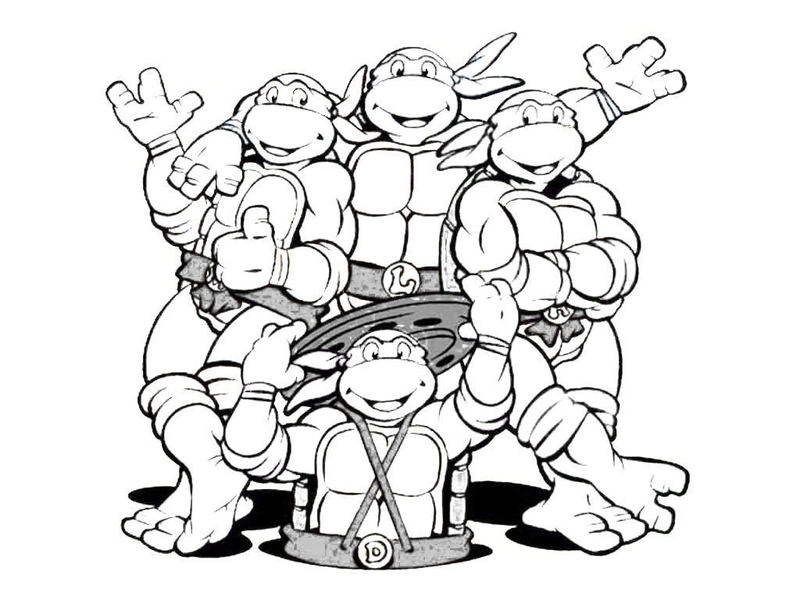 Ninja Turtles Coloring Pages for amazing kids | Printable Coloring