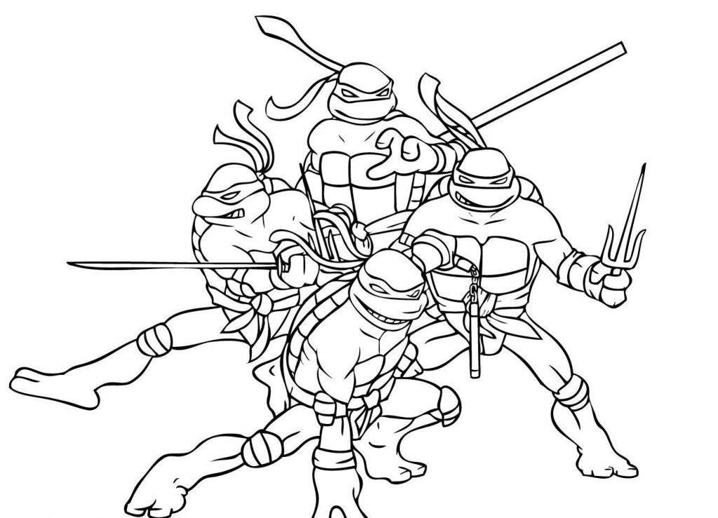 The Ninja Turtles Coloring Pages Hagio Graphic Ninja Turtles