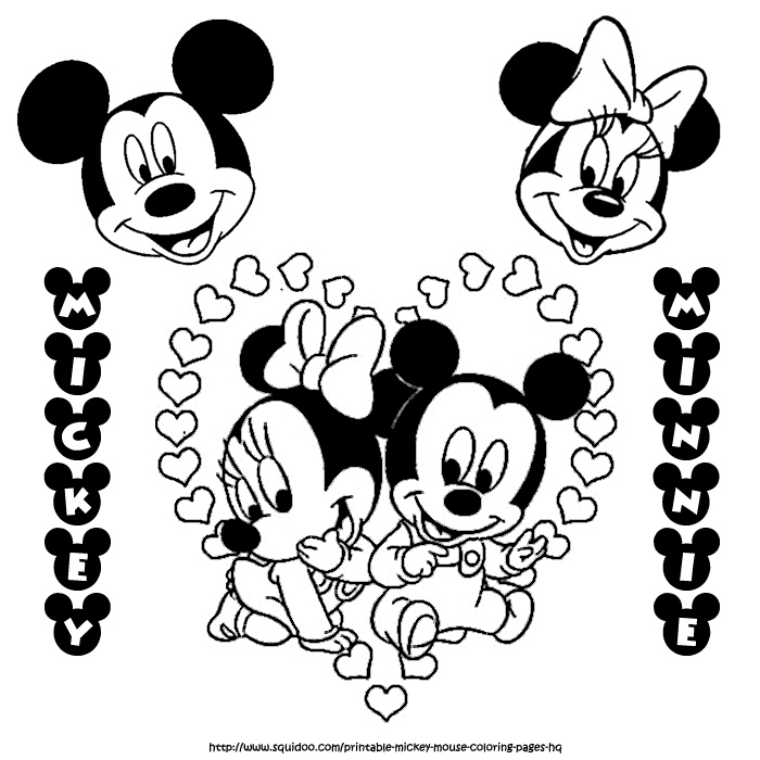 Pix For > Minnie And Mickey Mouse Coloring Pages Printable