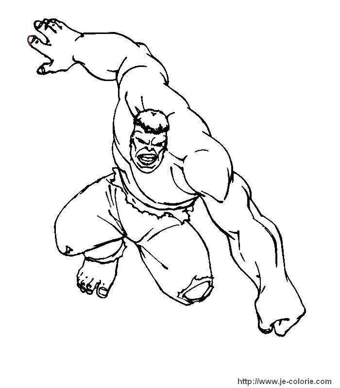 Coloriage Hulk Gratuits à Imprimer Sur Je Az Coloriage