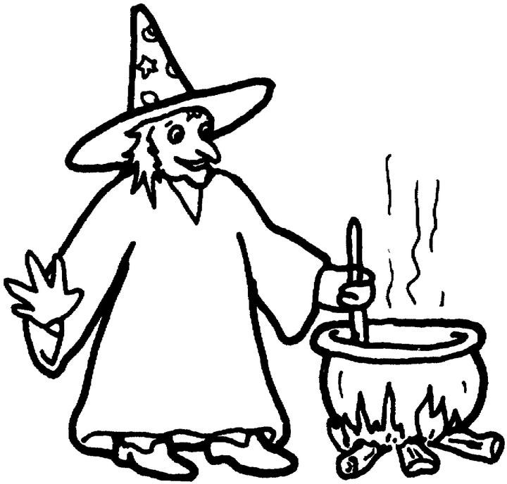 Caillou Coloring Pages Halloween Witch