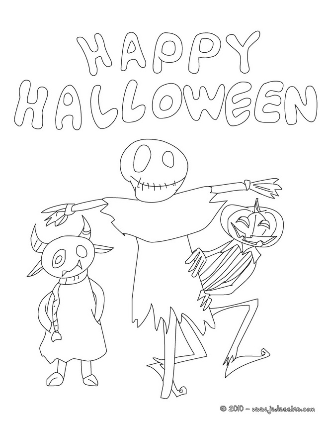 Coloriage MONSTRE HALLOWEEN - Happy Halloween