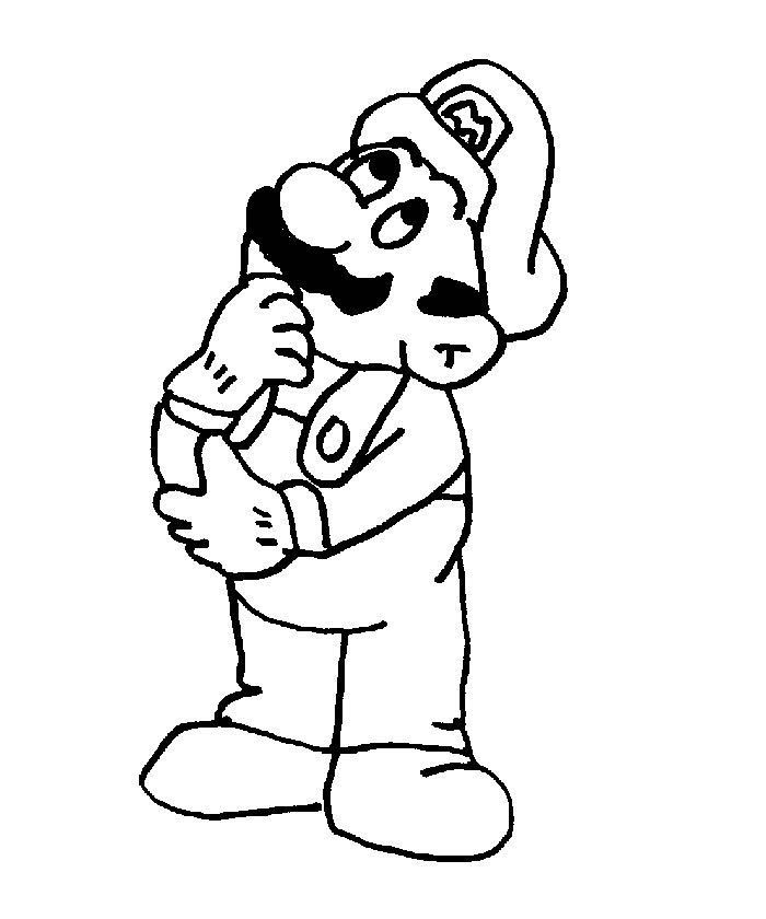 Pin Coloriage Mario on Pinterest