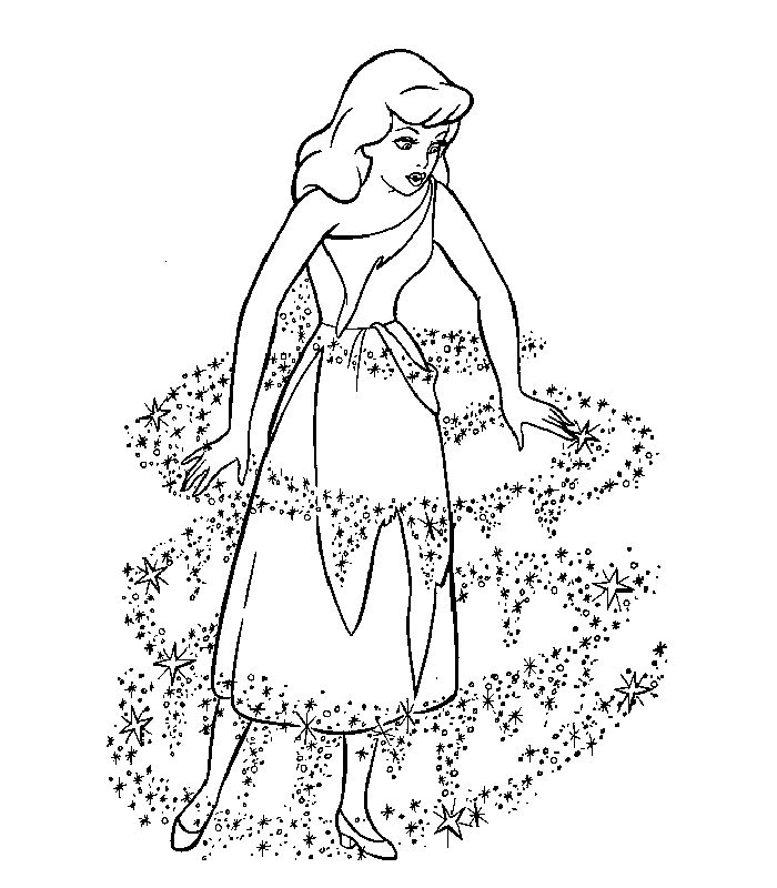 Cendrillon Coloriages — Kunings Coloriage