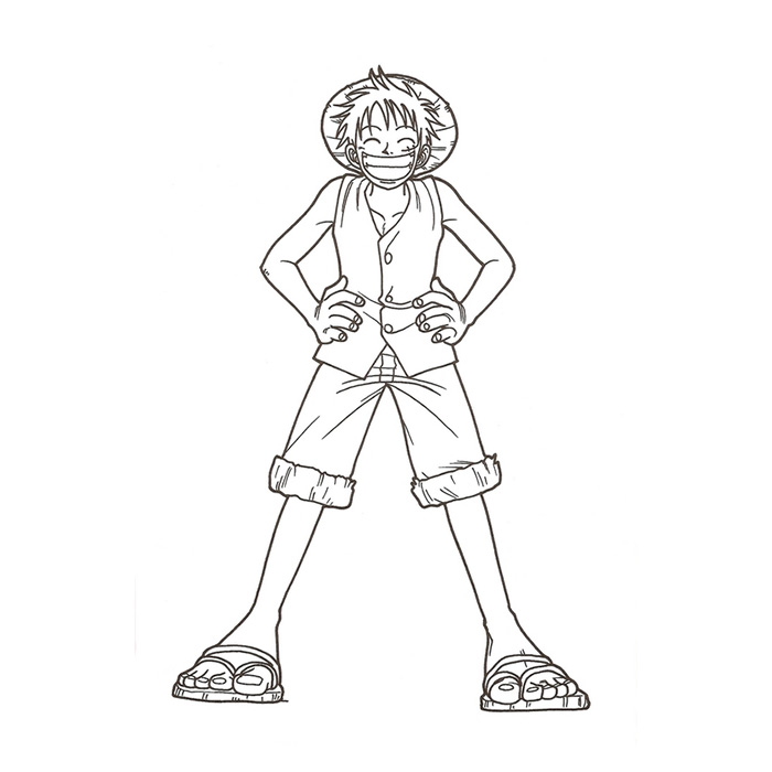 Coloriage One Piece Monkey D. Luffy a Imprimer Gratuit