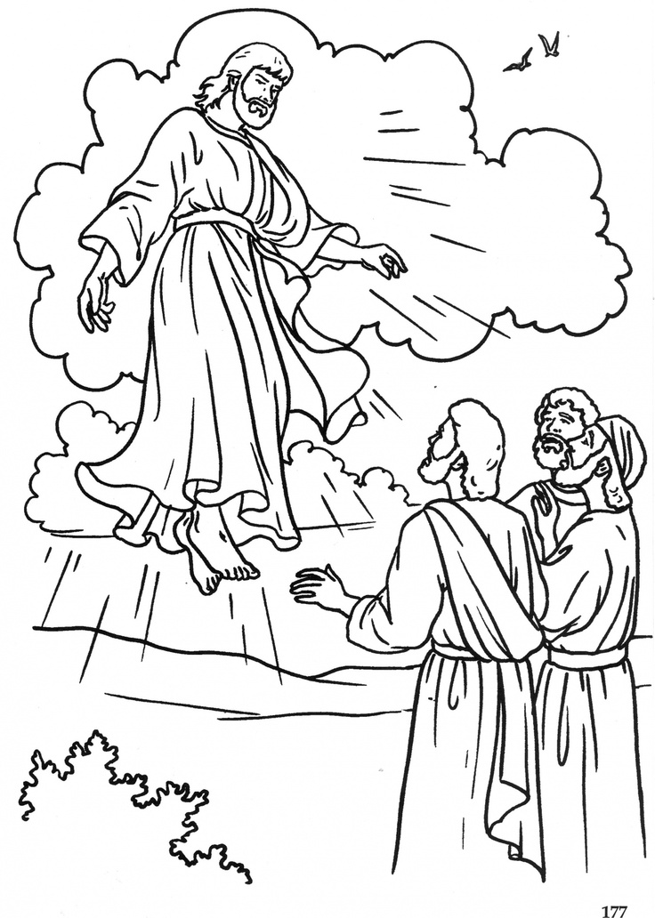 The Ascension Catholic Coloring Page | Coloriages Images Pieuses et B…