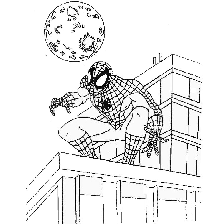 de spiderman Coloriage
