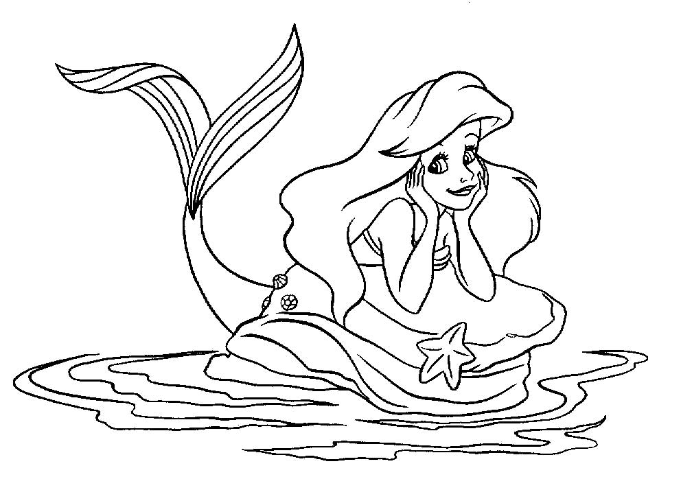 Artwork - Coloriages ariel la petite sirene, best images concepts art