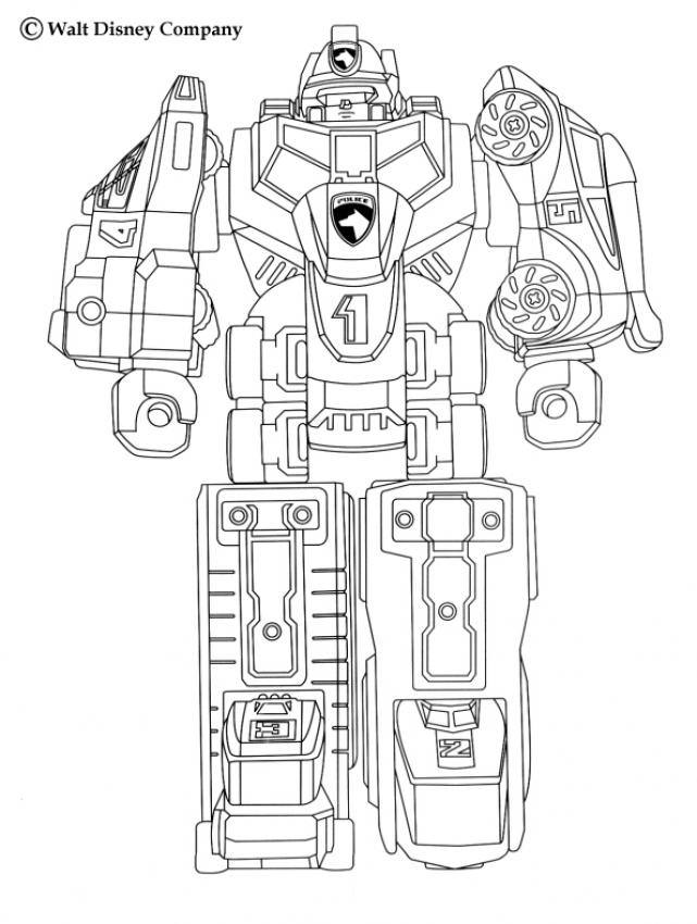 Coloriage POWER RANGERS - Megazord