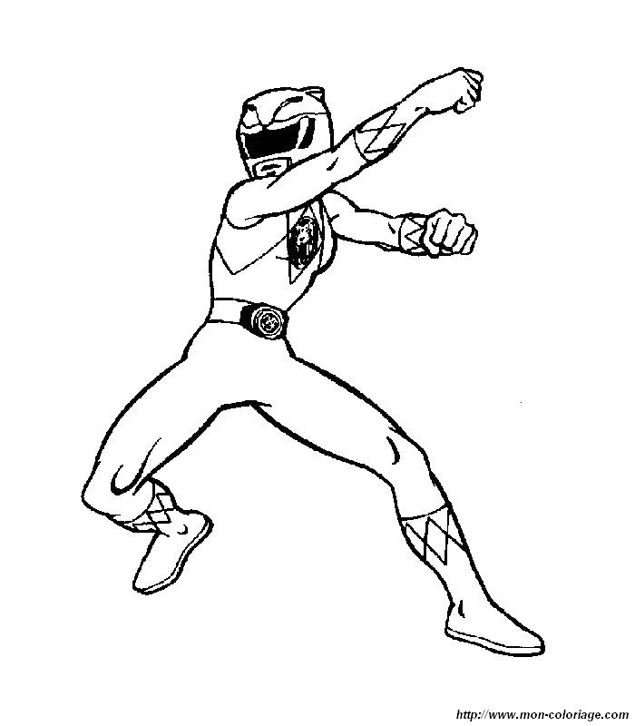 Coloriage de Power ranger, dessin 001 à colorier