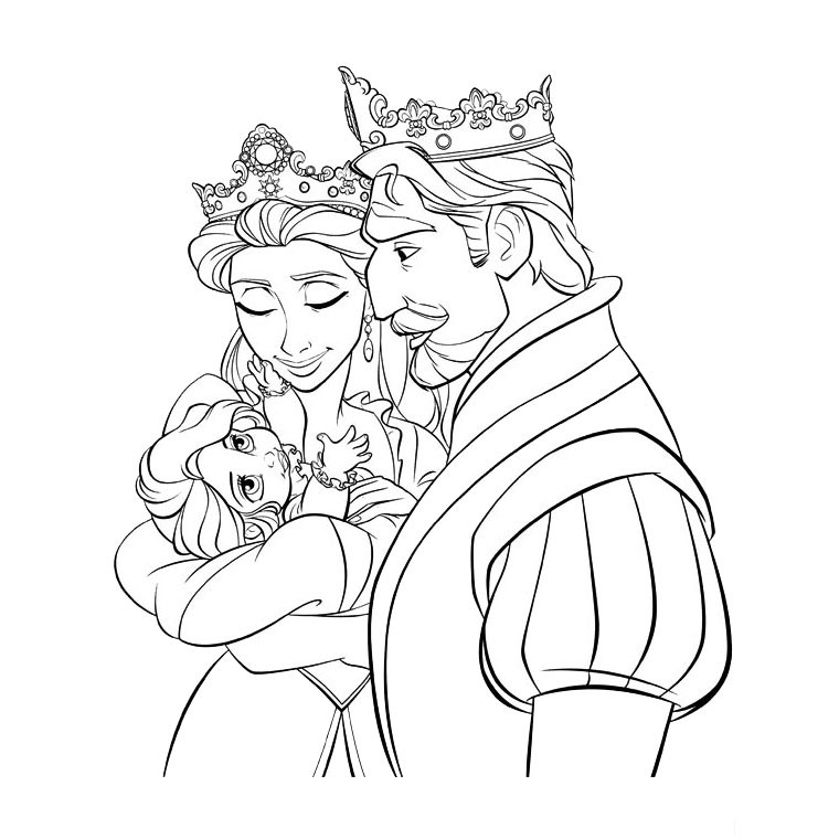 Coloriage Princesse Disney Raiponce » Coloriages