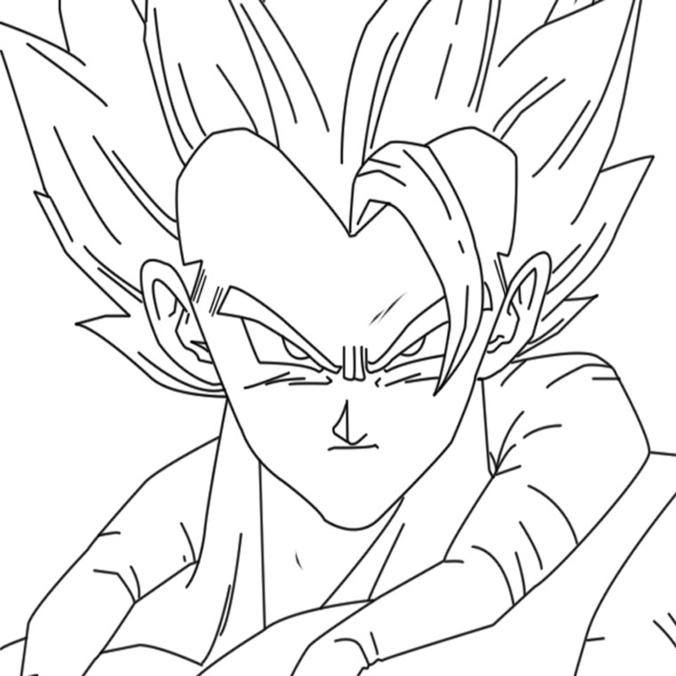 Le Coloriage Dragon Ball Z Gt Pour Imprimer Le Coloriage Dragon