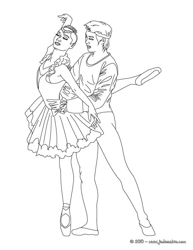 Coloriage GALA DE DANSE - Danseuses gala à imprimer