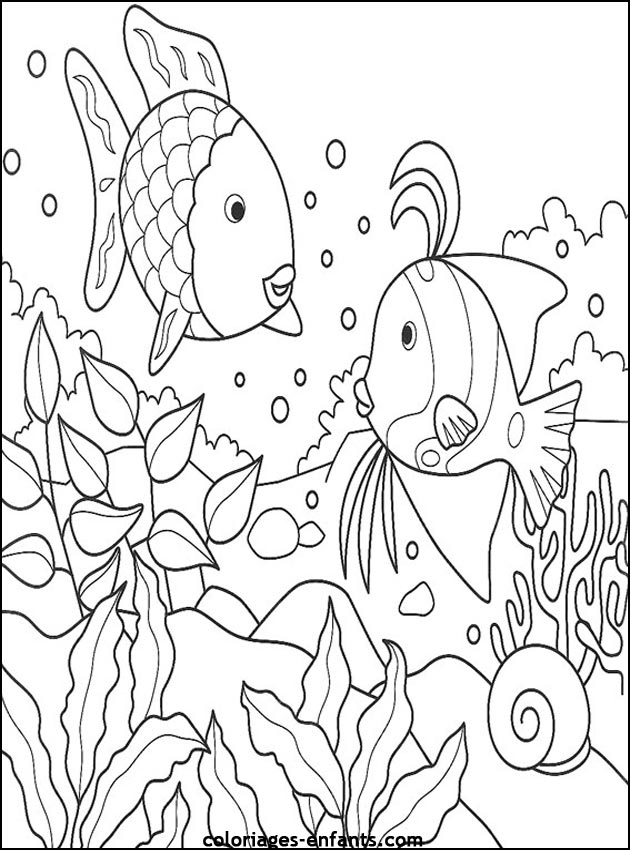 Dessin A Colorier Poisson Az Coloriage