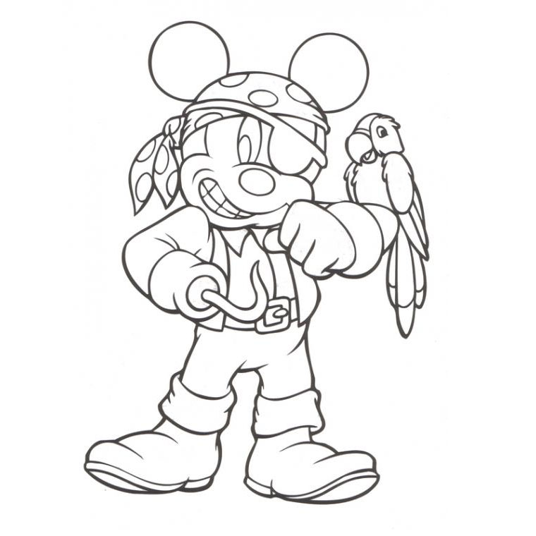 mickey pirate Coloriage