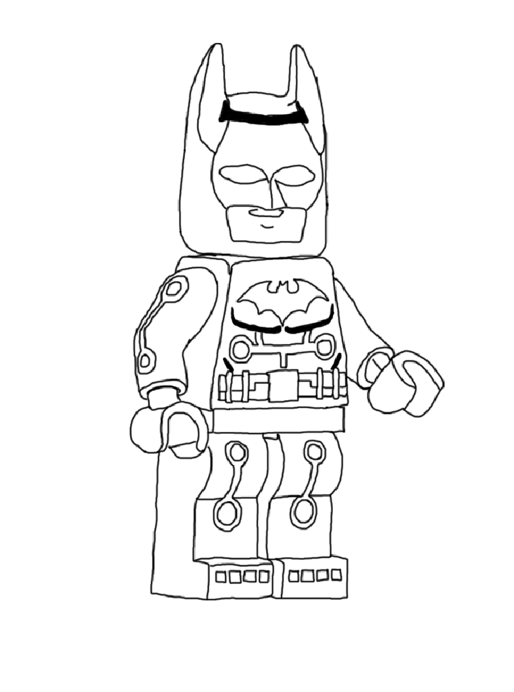 coloriage lego batman Coloriage