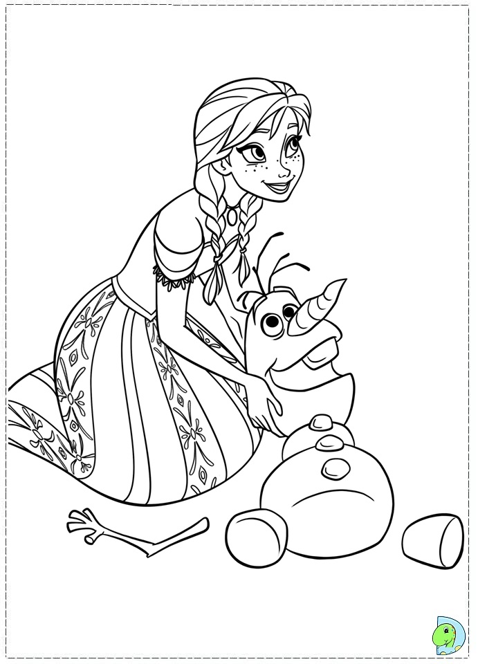 Coloriages de la Reine des Neiges (Disney) | Linosqui