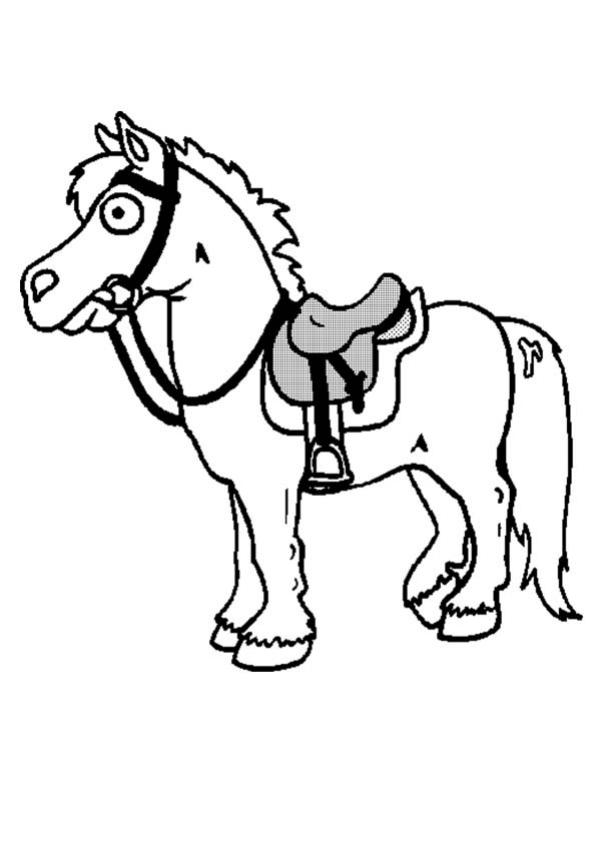 Coloriages CHEVAL - Poney