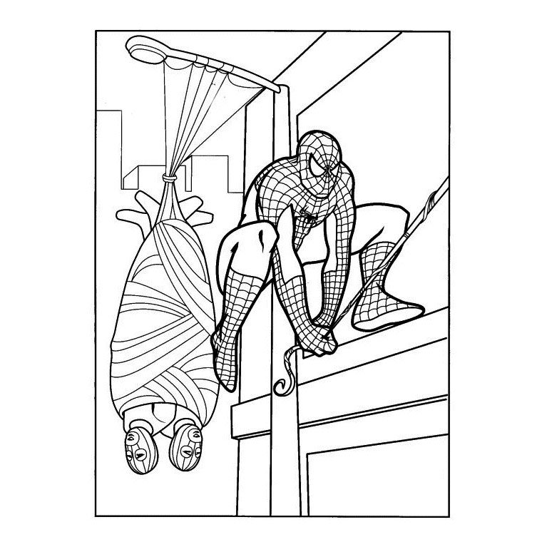 spiderman noir Coloriage