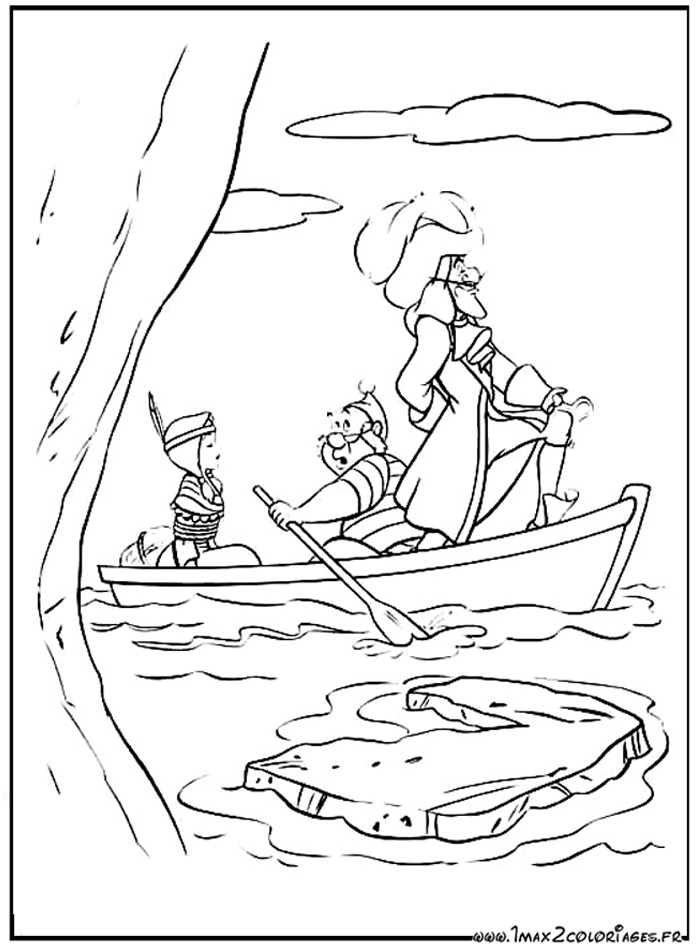 Coloriage Bateau Capitaine Crochet.Coloriages Du Film D Animation De Walt Disney Peter Pan