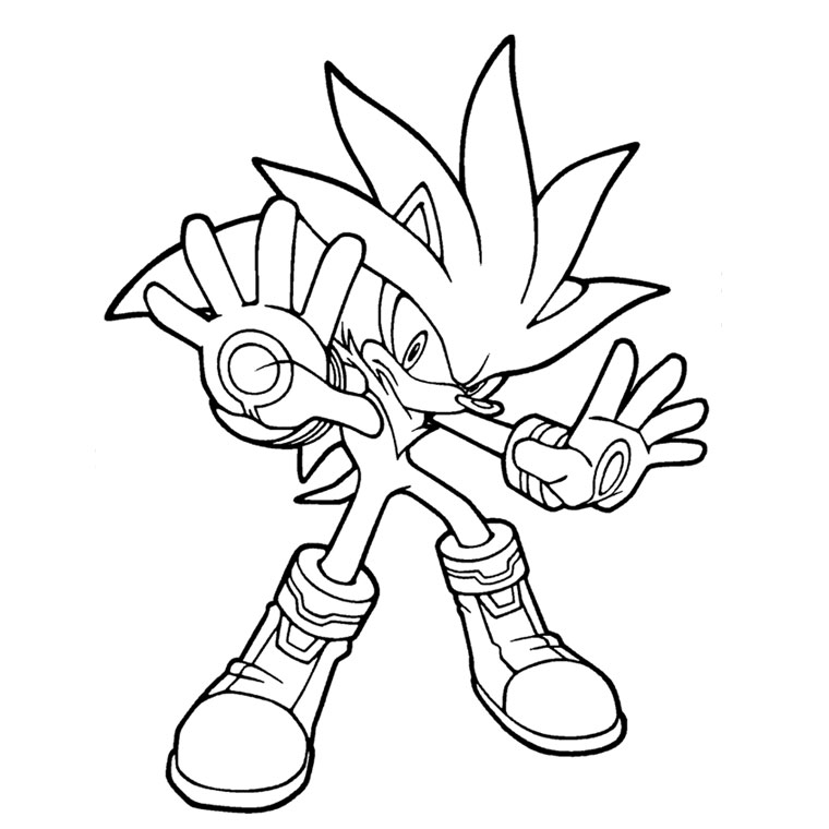 sonic shadow Coloriage