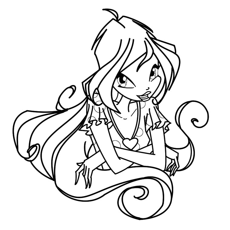 winx bloom coloriage