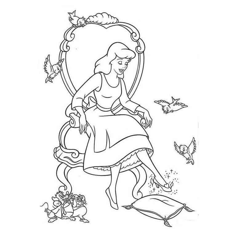 dessin à colorier princesse disney Coloriage