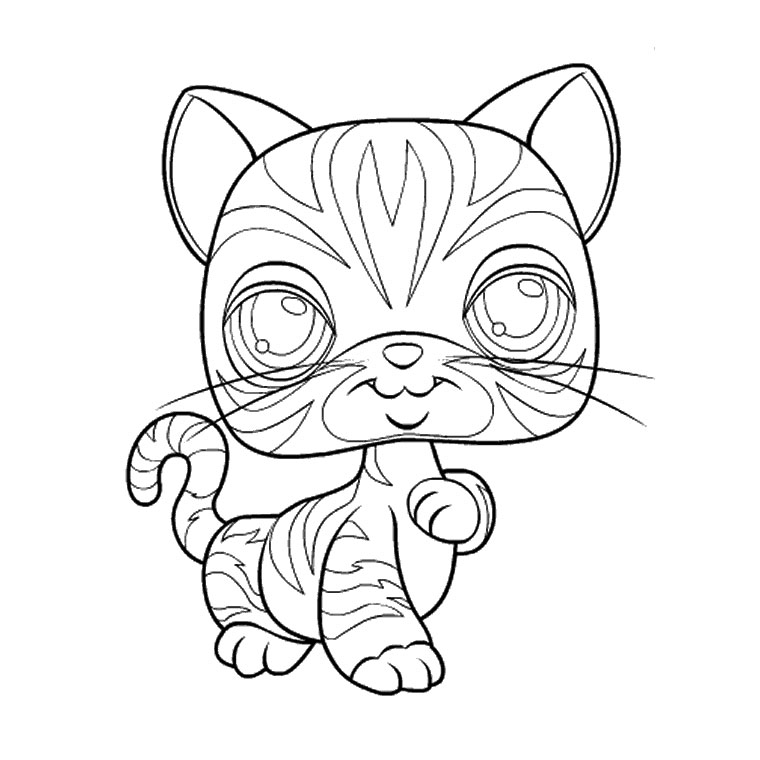 coloriage pet shop chaton Coloriage