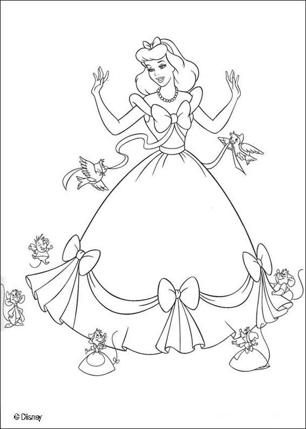 Cinderella coloring book pages : 22 free Disney printables for