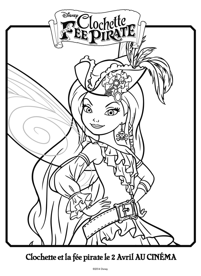 fee clochette et cristaline Coloriage
