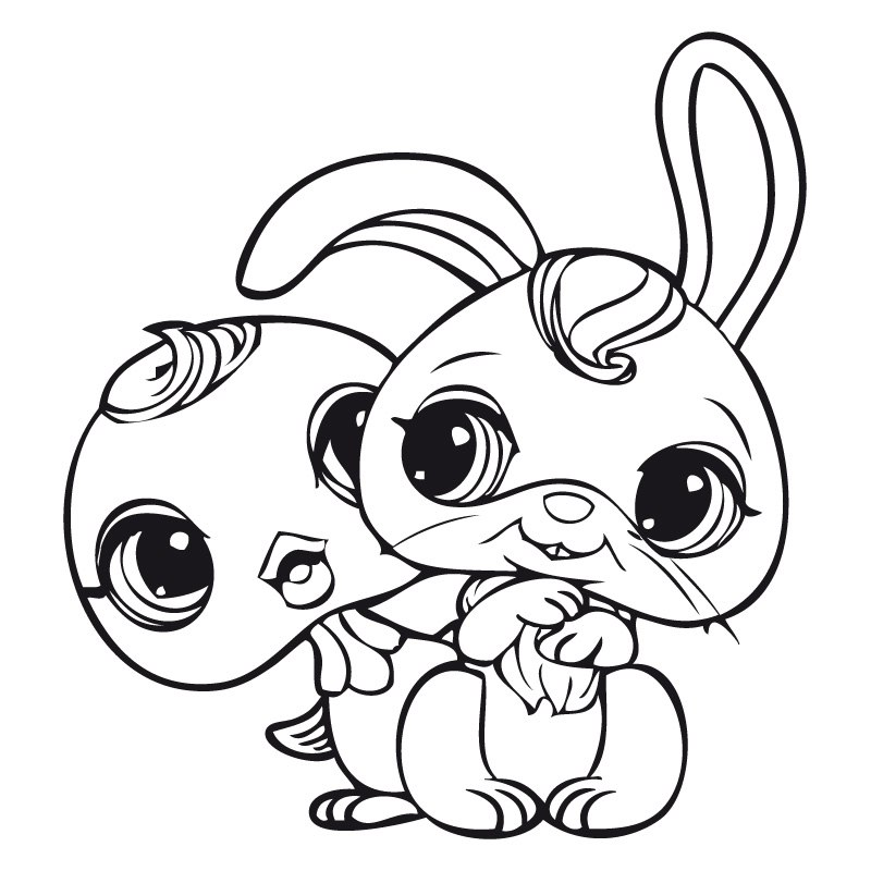 Coloriage Pet Shop Lapin - AZ Coloriage