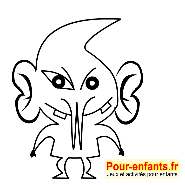 Dessins de monstres dessin coloriage monstre Halloween dessiner