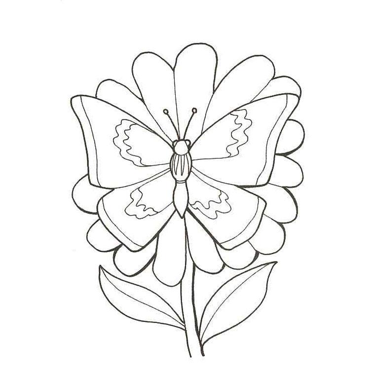 Connu Coloriage Fleurs Roses - AZ Coloriage HL05