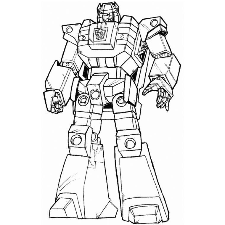 Coloriage optimus prime Coloriage