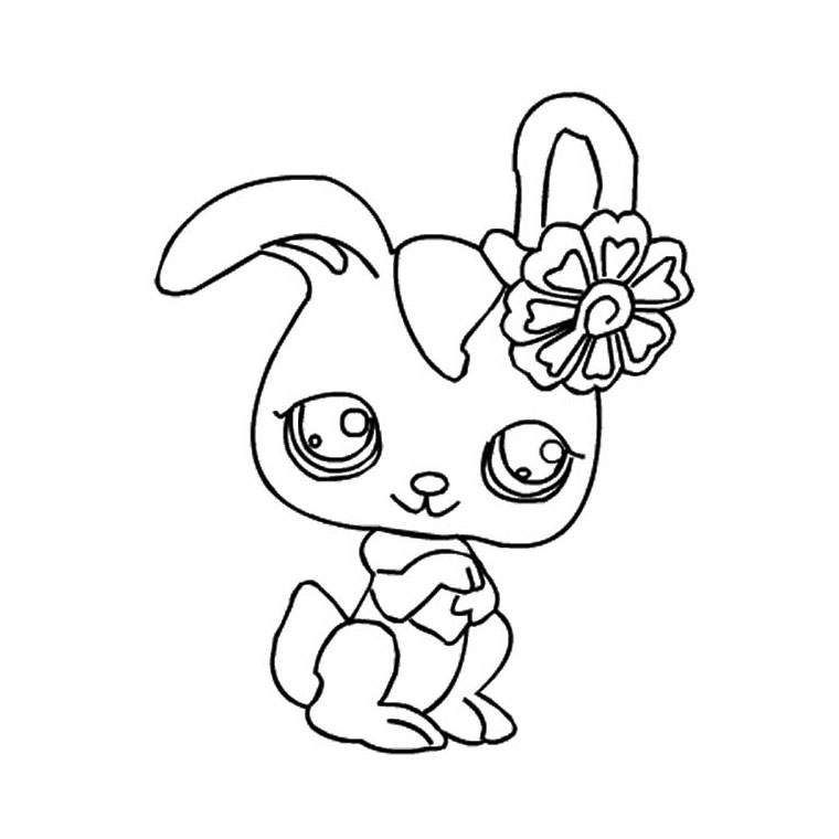 coloriage hello kitty lapin