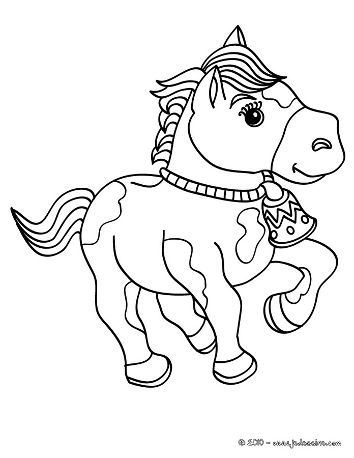 Coloriages CHEVAL - Jument