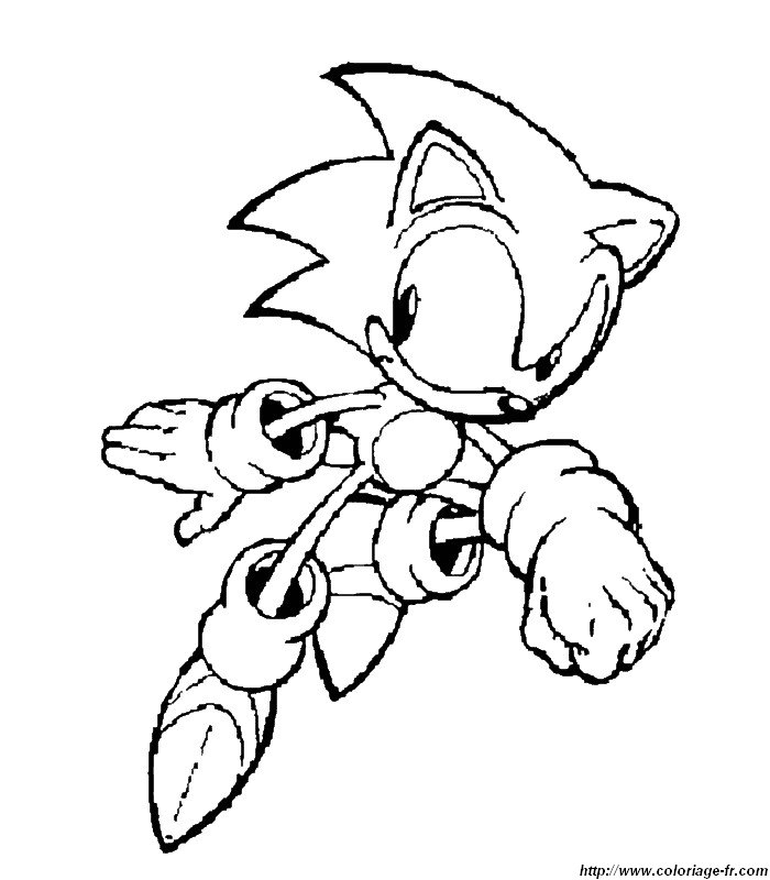 Coloriage Sonic Car Pictures