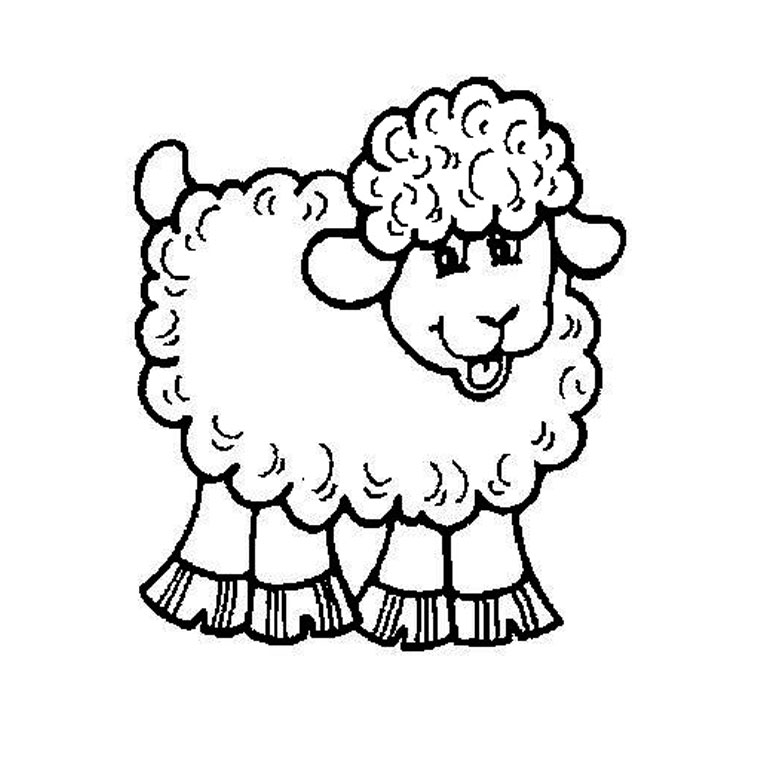 Coloriage Pet Shop Mouton a Imprimer Gratuit