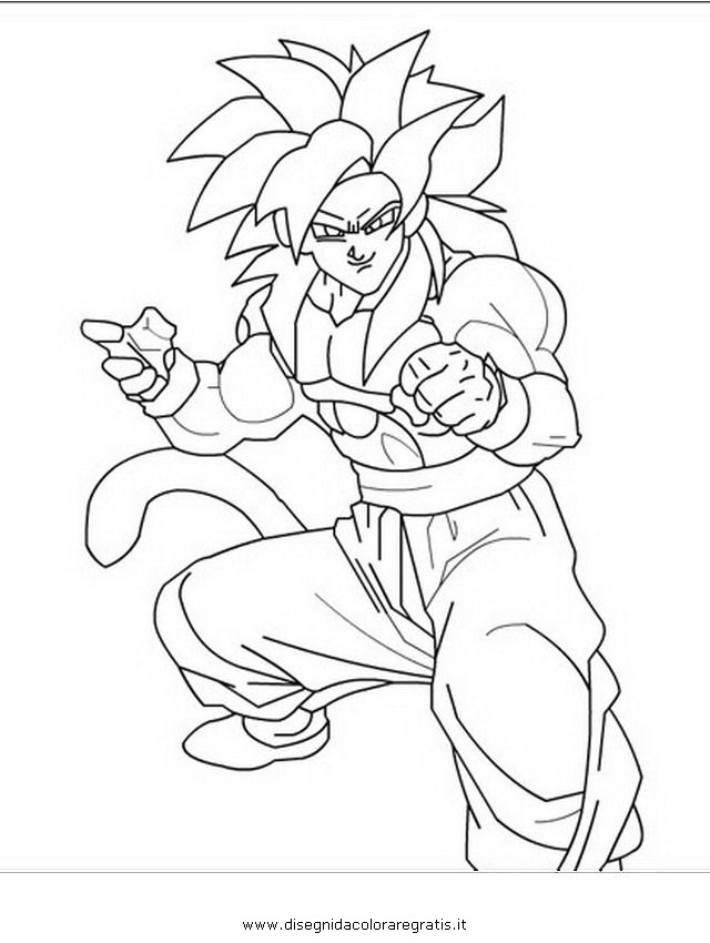 Pin Ss4 Goku Coloring Pages Super Saiyan 553x1024 On