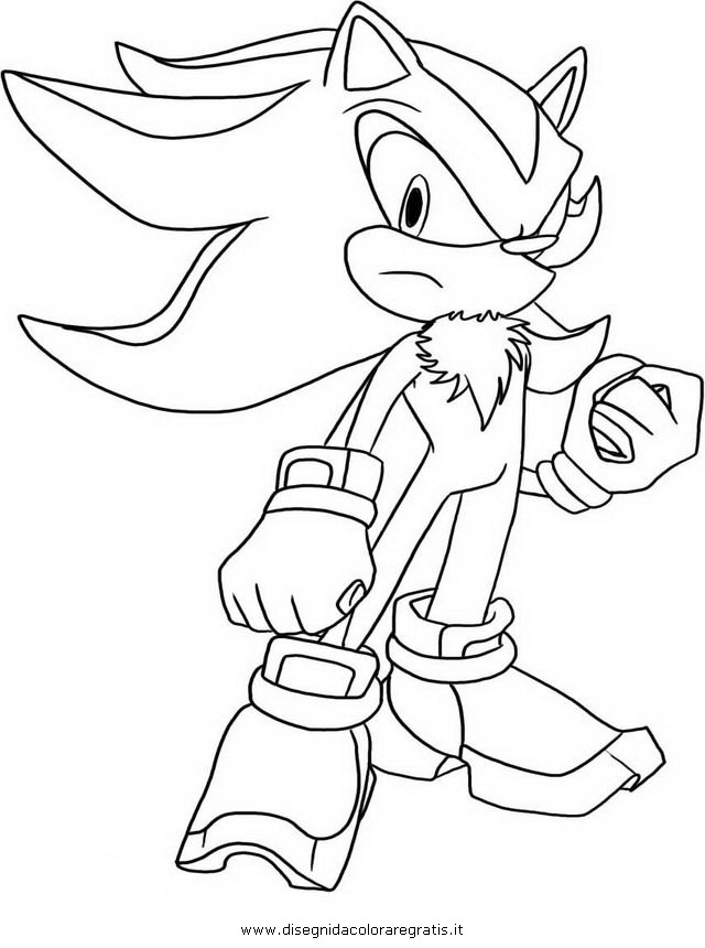 sonic y shadow Colouring Pages