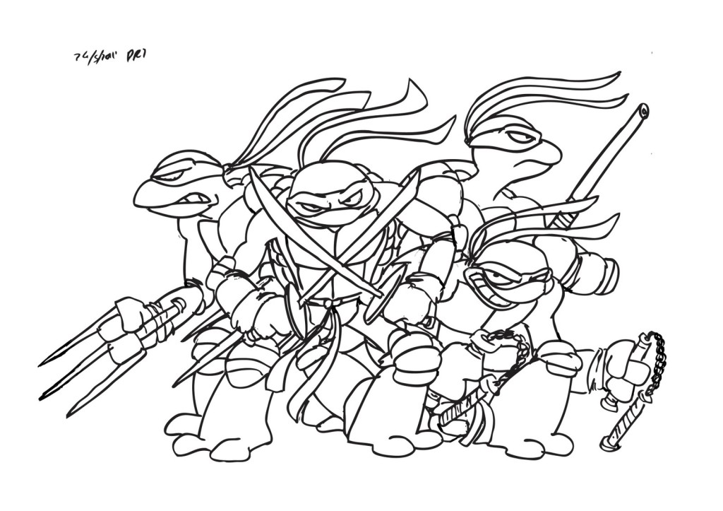 Teenage Mutant Ninja Turtle Coloring Pages - Coloring For