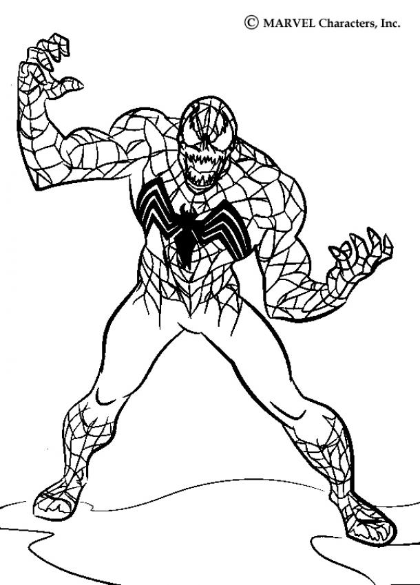 Coloriage Spiderman - Venom