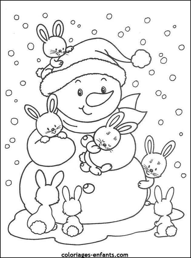 coloriage de nol imprimer sur coloriages enfantscom