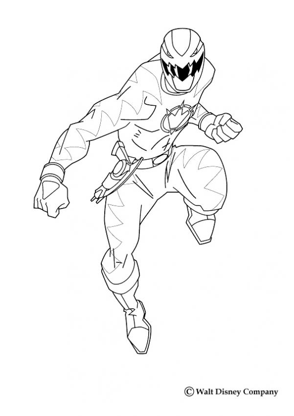 Coloriage POWER RANGERS - Ranger Jaune
